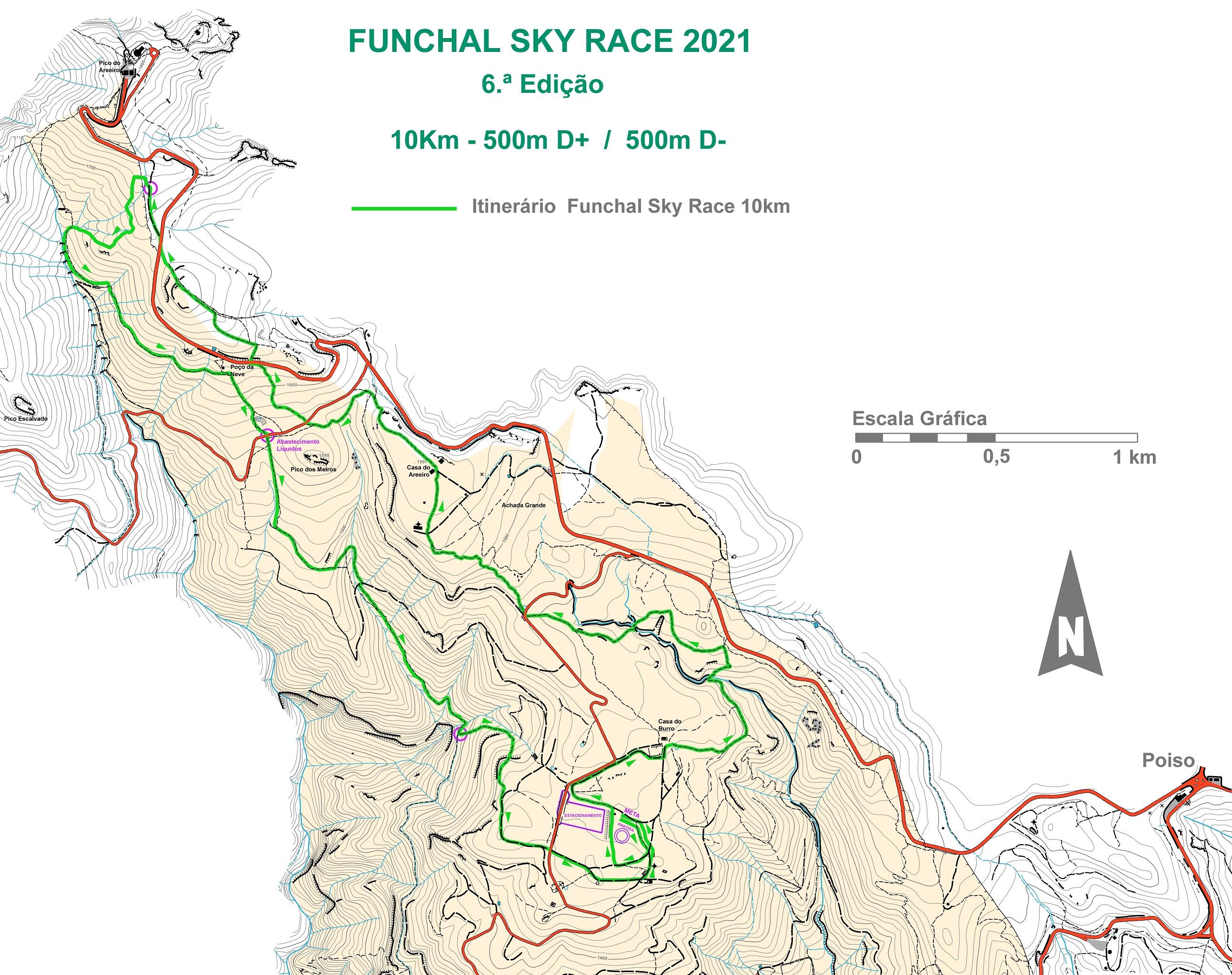 Mapa 10KM fx SKYRACE 2021 NET