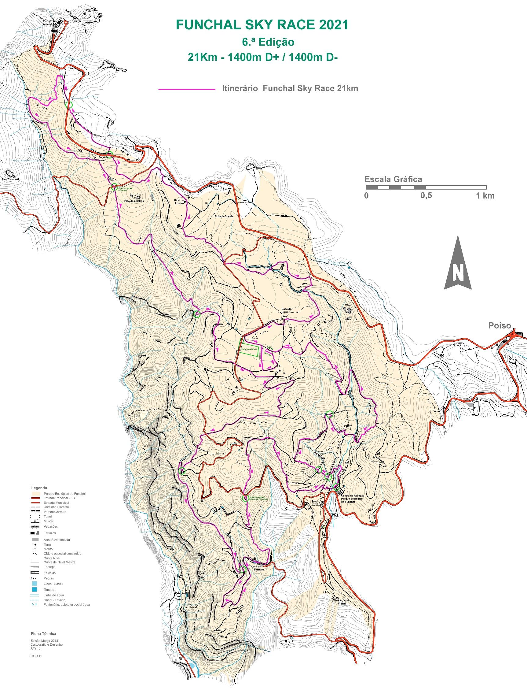 Mapa 21km fx SKYRACE 2021 NET